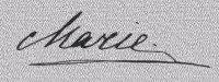 Signature de Maria en 1915