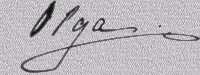 Signature d`Olga en 1916